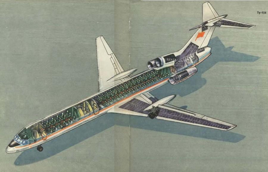 Ту-154 - Самолёты Страны